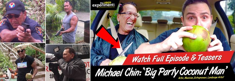 Huffinton Post Feature:  Uber Rider & Actor Michael Chin Pulls a Knife on the The Host of The Uber Experiment