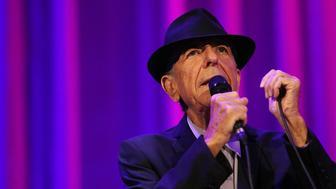 MELBOURNE, AUSTRALIA - NOVEMBER 20:  Leonard Cohen performs live for fans at Rod Laver Arena on November 20, 2013 in Melbourne, Australia.  (Photo by Graham Denholm/WireImage)