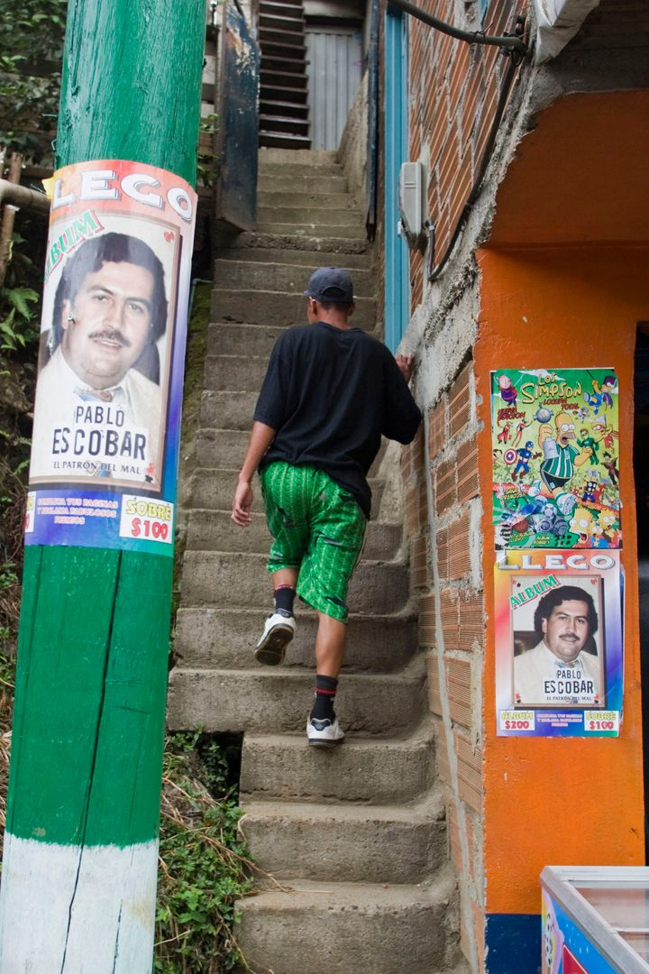 Pablo Escobar's image still looms large in his stronghold city of Medellin, Colombia.