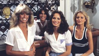 UNITED STATES - NOVEMBER 15:  CHARLIE'S ANGELS - 'Mother Angel' - Season Three - 11/15/78 Jill (Farrah Fawcett, left) returned to help Sabrina (Kate Jackson, second from left), Kelly (Jaclyn Smith) and Kris (Cheryl Ladd) save a 'little Angel' from a diabolical murderer.  (Photo by ABC Photo Archives/ABC via Getty Images)