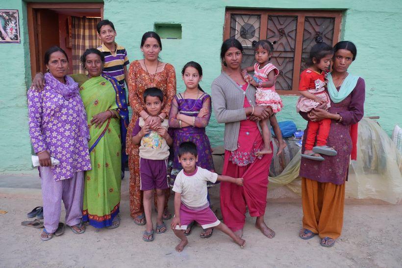 Bimla (left) is a health worker in Uttarakhand who recruits women for sterilization camps