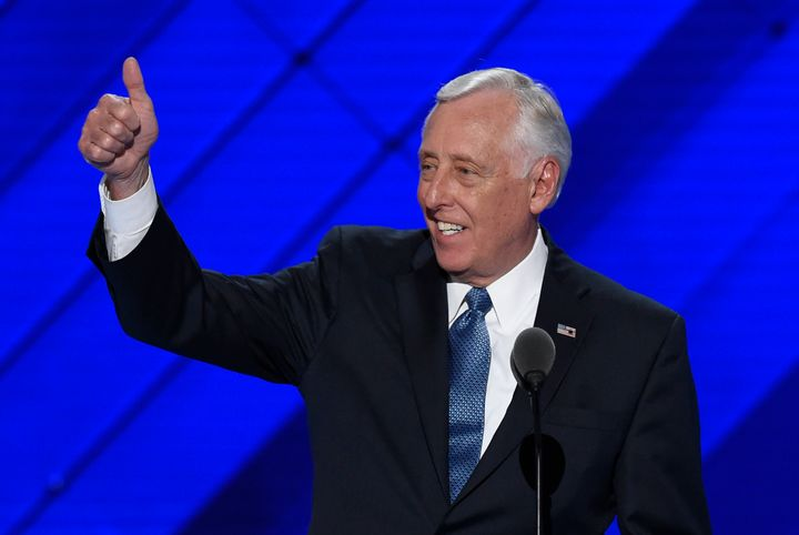 House Minority Whip Steny Hoyer (D-Md.) speaks at the Democratic National Convention in Philadelphia on July 25.