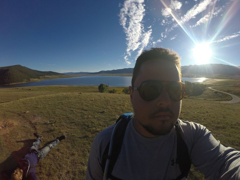Eagle's Nest, NM. Tim is laying on the ground behind me. Taken on Garmin Virb Ultra 30.