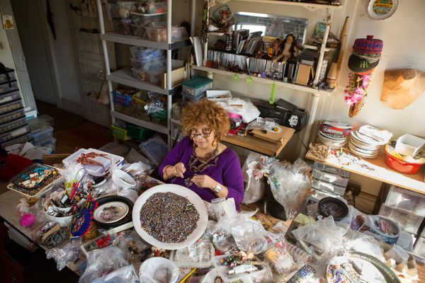 The 67-year-old artist from Baltimore, Md.,specializes inbeadwork and jewelry, turning what has traditionally bee