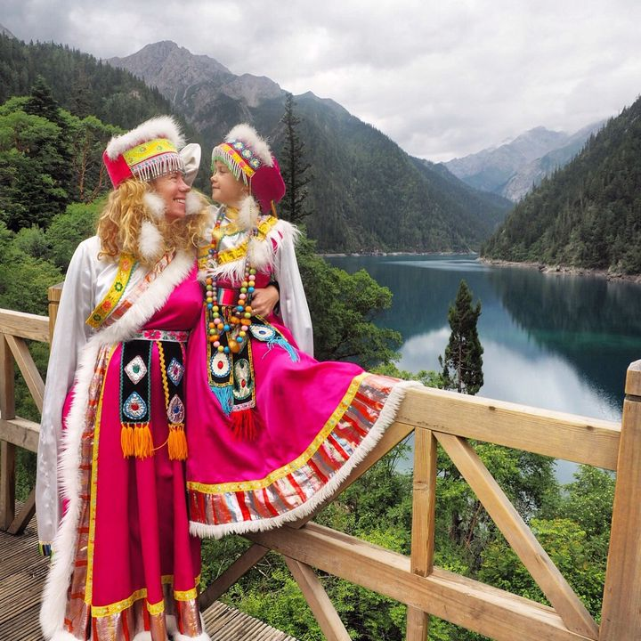 Together in Jiuzhaigou National Park, China