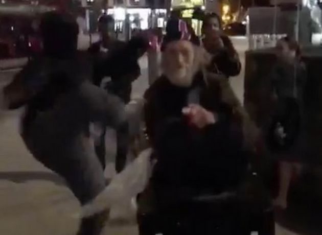 Police are investigating are a video began circulating online of a man being kicked to the