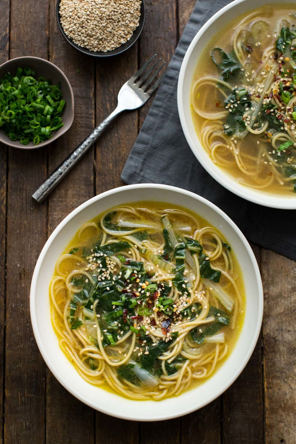 "<strong>Get the <a href=""http://naturallyella.com/ginger-bok-choy-soup-with-noodles/"" target=""_blank"">Ginger Bok Choy Soup wi"