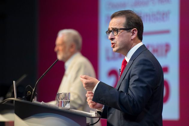 Challenger: Owen Smith speaks at the first Labour leadership debate