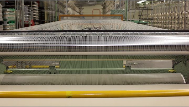 The yarn, before it's woven into fabric.