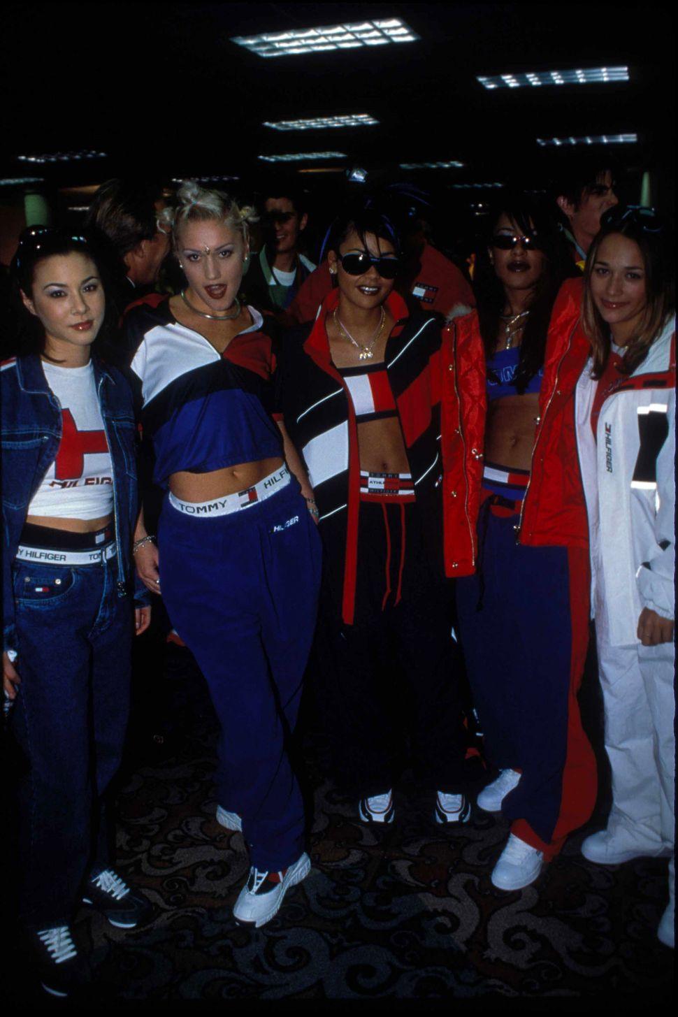 China Chow, Gwen Stefani,Kidada Jones, Aaliyah and Rashida Jones photographed by Patrick McMullan in New York City, 199