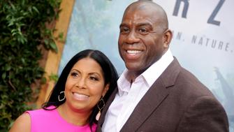 HOLLYWOOD, CA - JUNE 27:  Magic Johnson and Cookie Johnson arrive at the premiere of Warner Bros. Pictures' 'The Legend Of Tarzan' at TCL Chinese Theatre on June 27, 2016 in Hollywood, California.  (Photo by Gregg DeGuire/WireImage)