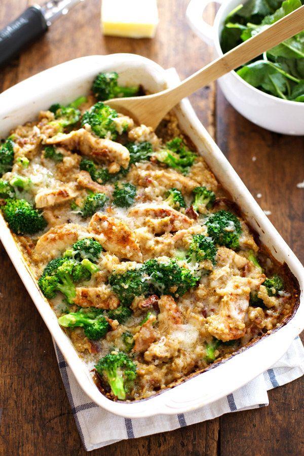 """<strong>Get the <a href=""""http://pinchofyum.com/creamy-chicken-quinoa-broccoli-casserole"""" target=""""_blank"""">Chicken Quinoa Brocc"""