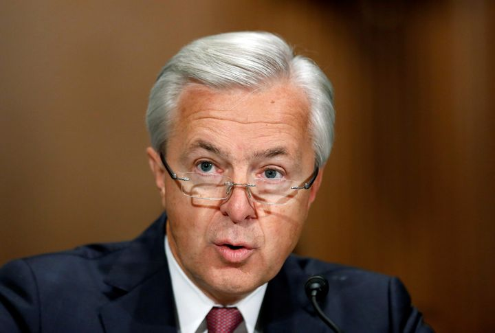 Wells Fargo CEO John Stumpf faced questions at the Senate on Tuesday.