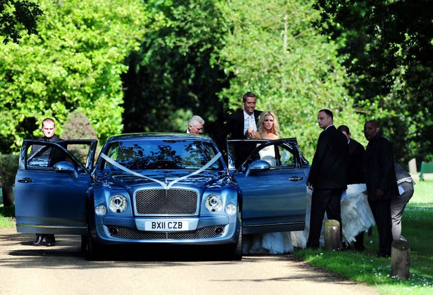 Ricky Hayden (far left) at the wedding of Peter Crouch and Abbey Clancy in June