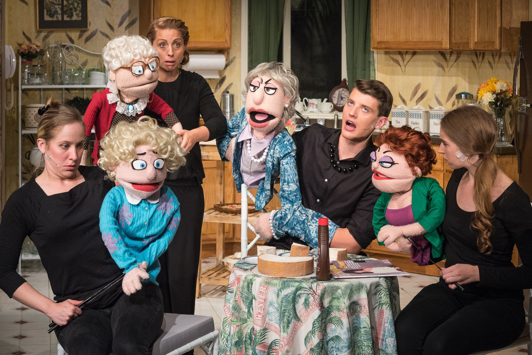 """That Golden Girls Show! A Puppet Parody"" stars Arlee Chadwick as Rose, Emmanuelle Zeesman as Sophia, Wes"