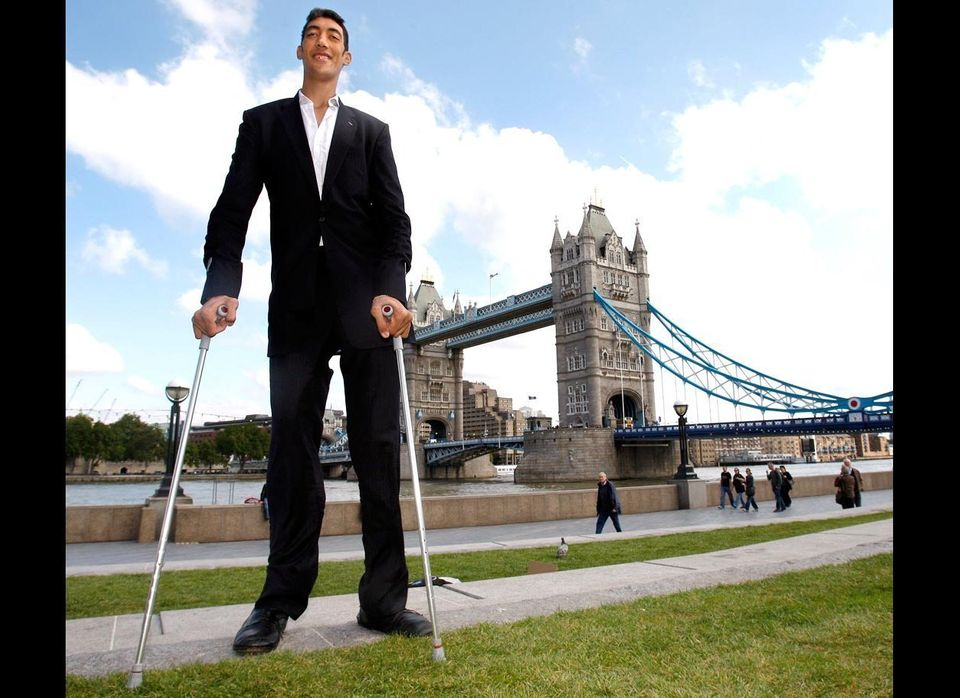 At 8-foot-3, Sultan Kosen was declared the world's tallest living man in 2009 after another candidate, Ukrainian Leonid Stadn
