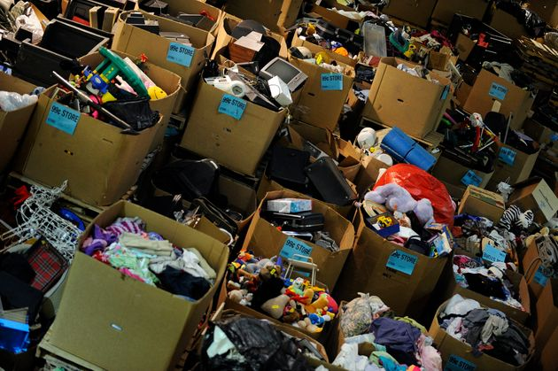 Items ready to be sent to a Goodwill