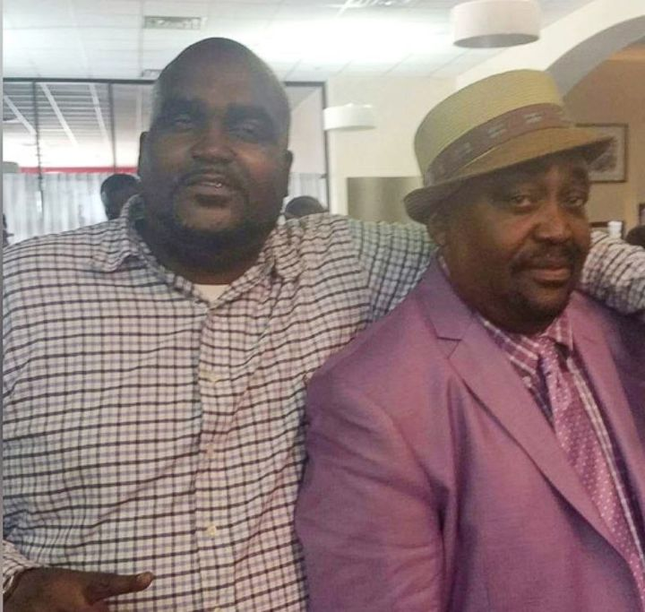 Terence Crutcher, left, with his father Joey Crutcher.