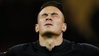 Rugby Union - New Zealand v France - IRB Rugby World Cup 2015 Quarter Final - Millennium Stadium, Cardiff, Wales - 17/10/15 New Zealand's Sonny Bill Williams during the national anthems Action Images via Reuters / Peter Cziborra Livepic