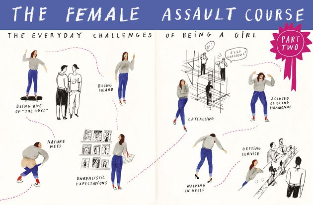 These Six Illustrations Nail What It Feels Like To Be A Girl In