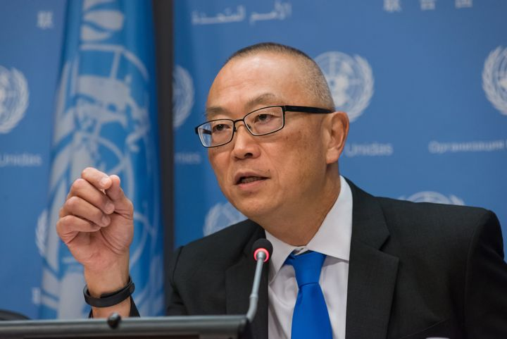 UN HEADQUARTERS, NEW YORK, NY, UNITED STATES - 2016/09/15: Doctor Keiji Fukuda, the Assistant Director-General and Special Re