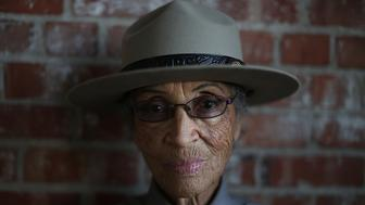RICHMOND, CA - OCTOBER 24:  National Park Service ranger Betty Reid Soskin poses for a portrait at the Rosie the Riveter/World War II Home Front National Historical Park on October 24, 2013 in Richmond, California.  At the age of 92, Betty Reid Soskin is the oldest full-time National Park Service ranger in the United States. She works at the Rosie the Riveter/World War II Home Front National Historical Park where she leads tours, speaks to groups and answers questions about living and working in the area during the world war two. Soskin works as a clerk for the all-black Boilermakers A-36 in Richmond, California during the war. (Photo by Justin Sullivan/Getty Images)