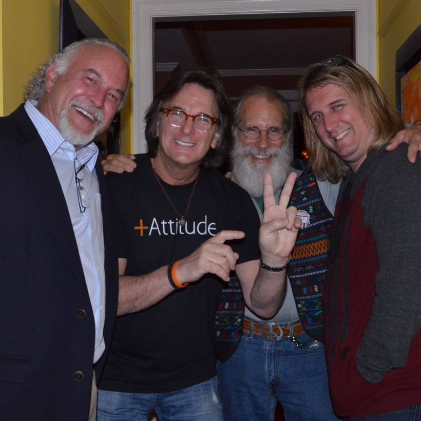 Left to right - Robert Wyatt,  Alex Garfield, Gary Kuchmeister and Hal Eisenberg