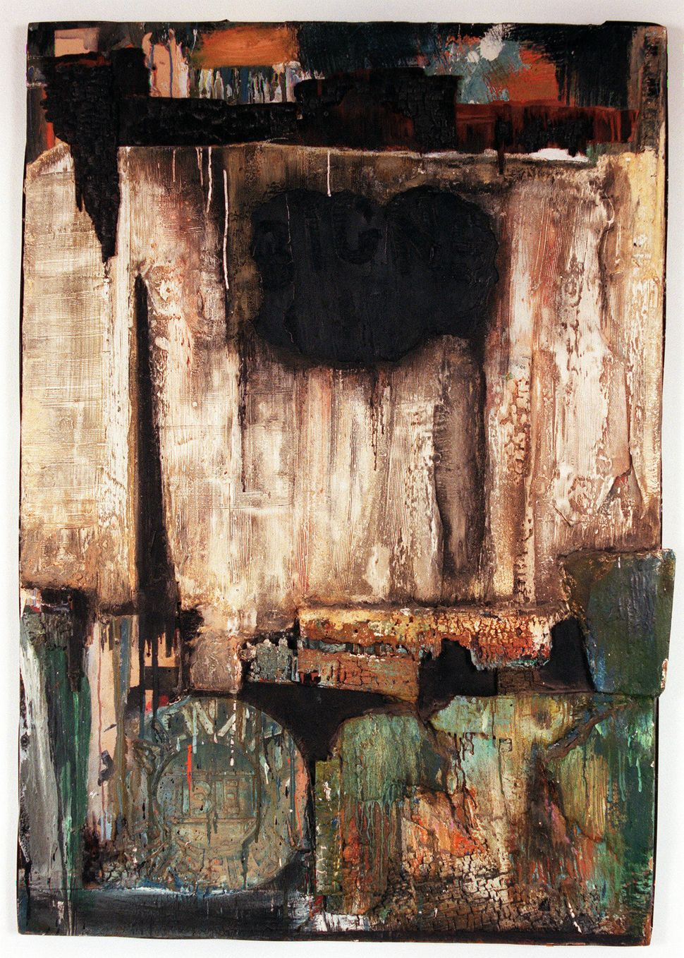 """Watts Riots"" by Noah Purifoy, an artist Jones featured in her 2014 exhibition ""Witness: Art and Civil Rights in t"