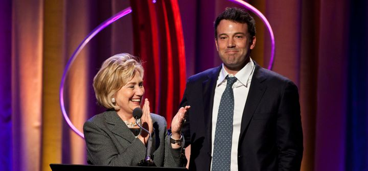 Hillary Clinton with actor Ben Affleck