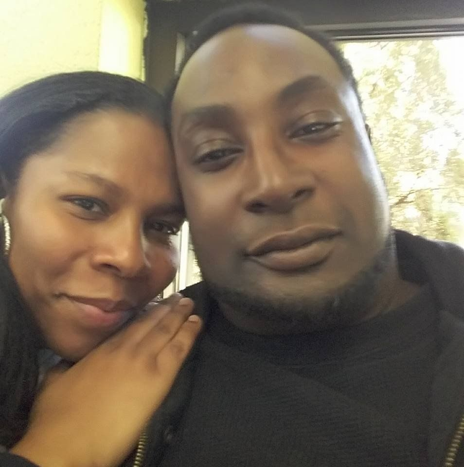 Rakeyia Scott with Keith Scott, in a photograph posted to Rakeyia's Facebook in February.