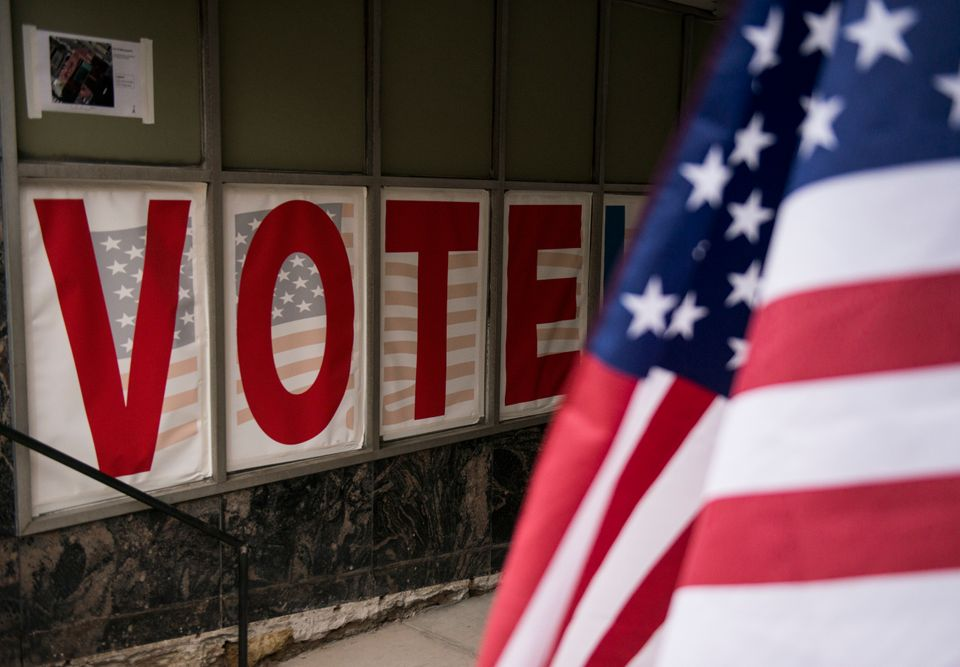 MINNEAPOLIS, MN - SEPTEMBER 23: Signage at an early voting center on September 23, 2016 in Minneapolis, Minnesota. Minnesota