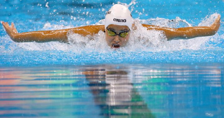 Women's 100m Butterfly - Heats - Olympic Aquatics Stadium - Rio de Janeiro, Brazil - 06/08/2016. Yusra Mardini