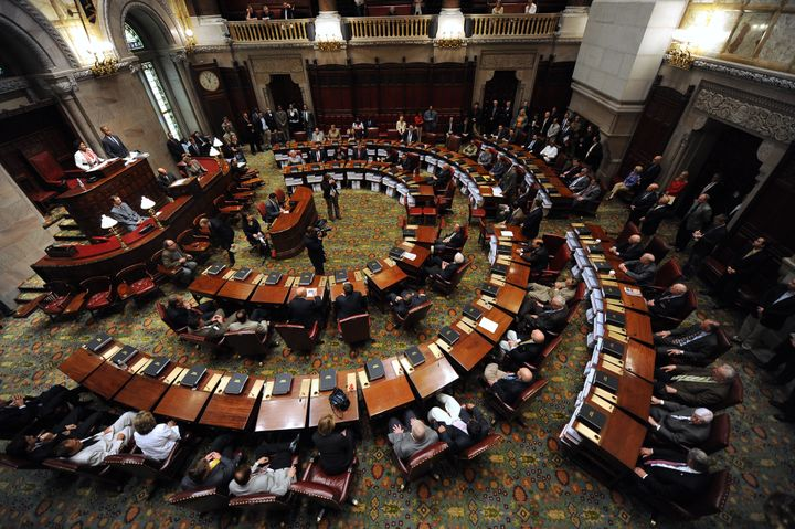 The New York State Senate is one of more than two dozen state legislative chambers Democrats hope to win control of in Novemb