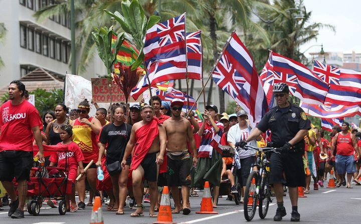"""Thousands of <a href=""""http://www.civilbeat.org/2015/08/thousands-turn-out-for-aloha-aina-unity-march/"""" target=""""_blank"""">Aloha"""