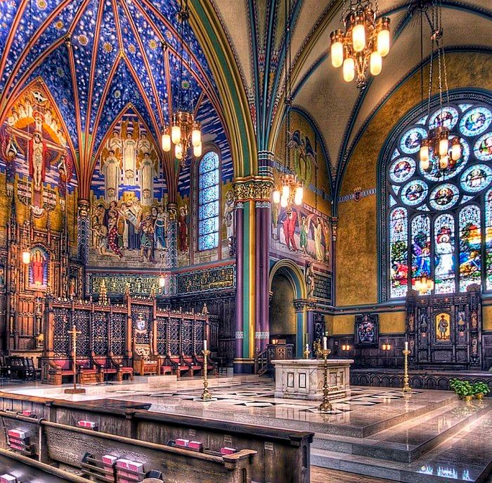 The Cathedral of the Madeleine in Salt Lake City, Utah