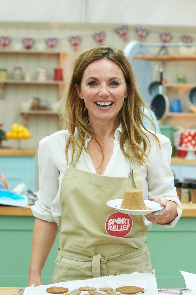 Geri Horner in the 'Bake Off'