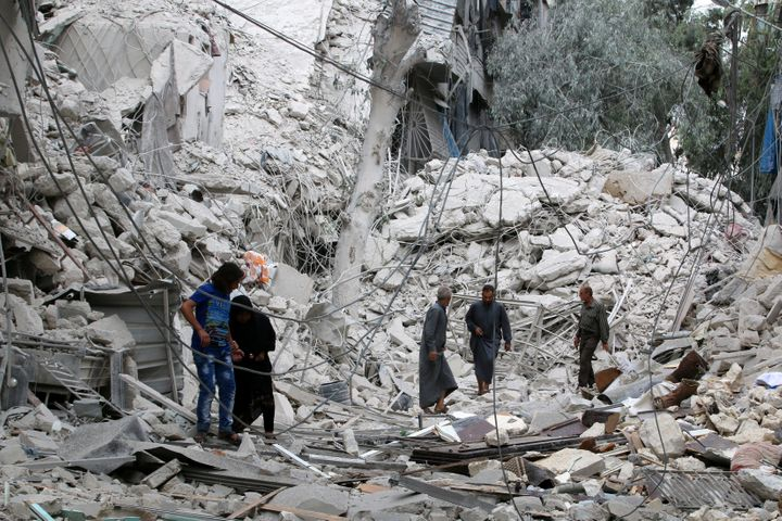 <br>The Syrian Observatory for Human Rights says it has documented 72 deaths since Friday, including five children. The&nbsp;