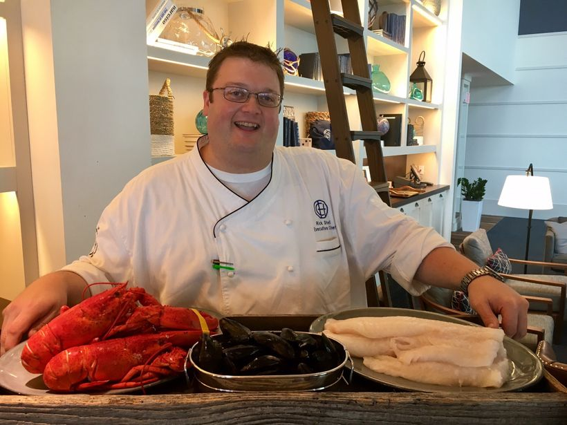 Rick Shell is the seafood sommelier at Cliff House in Maine.