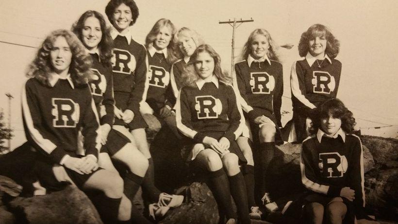 Go Rams! (Christine Blackburn pictured top far right)