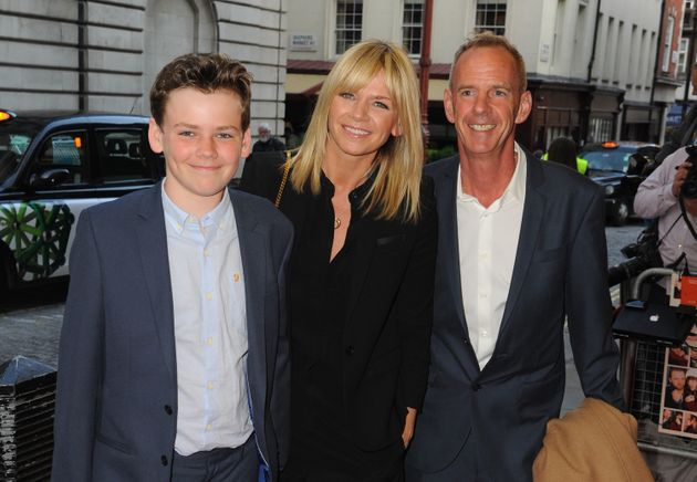 Zoe Ball, Norman Cook and their Son Woody Cook attends the UK Gala screening of 'Man Up' at The Curzon...