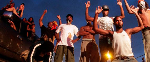 Black Men in Ferguson (Hands Up, Don't shoot)