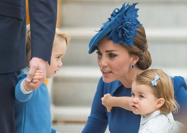 Charlotte wentstraight for the diamond brooch whenmommy was distracted.