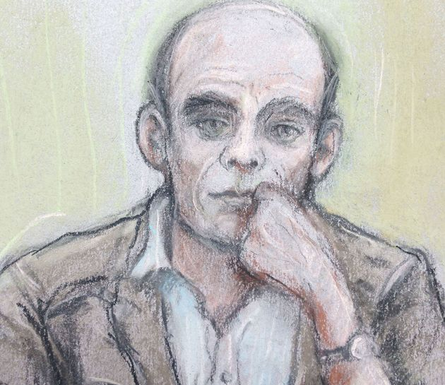A court artist sketch of Christopher