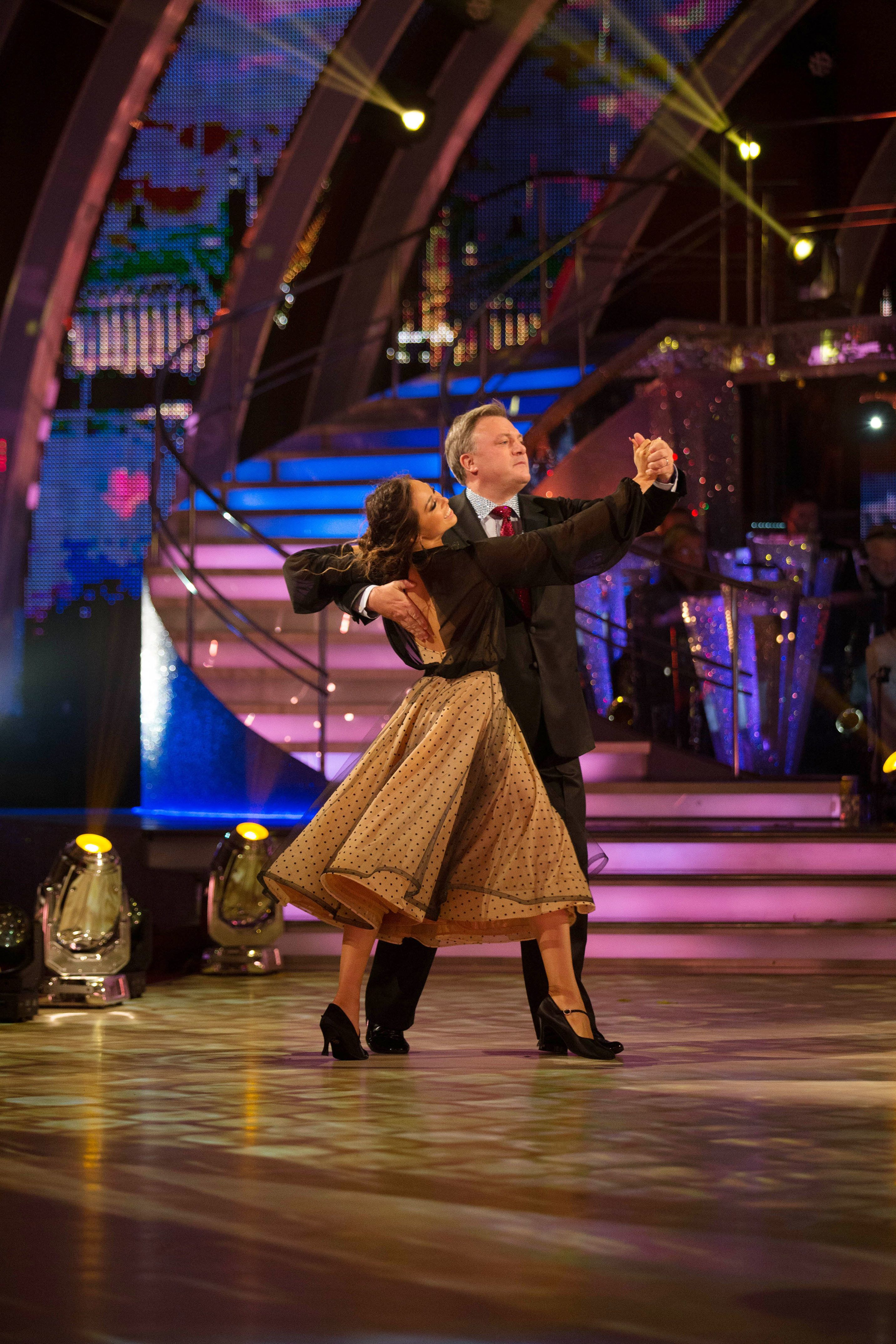 Ed Balls Gets A Mixed Reception As He Makes His Live 'Strictly'