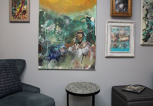 <strong>A mini-gallery of Angelo's works.</strong>