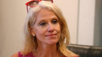 Republican presidential nominee Donald Trump's Campaign Manager Kellyanne Conway is pictured during a meeting with Trump's Hispanic Advisory Council at Trump Tower in the Manhattan borough of New York, U.S., August 20, 2016.   REUTERS/Carlo Allegri