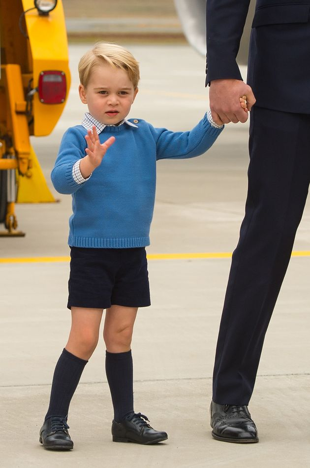 George has been working on his royal