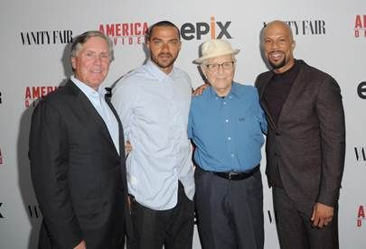 (L-R) President/CEO of EPIX Mark Greenberg, senior producer Jesse Williams, executive producers Norman Lear and Common attend