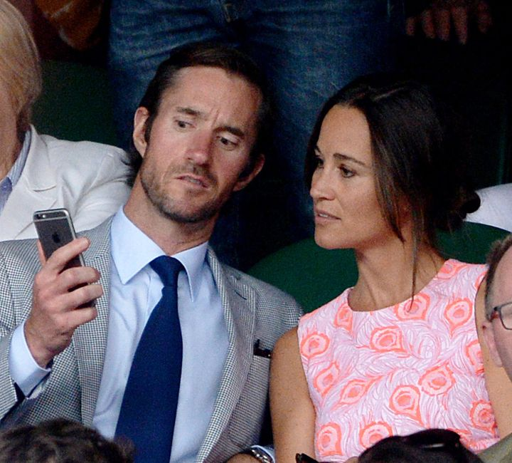 The hacked photos reportedly include a nude snap of Pippa Middleton's fiancé, James Matthews, who is pictured wit