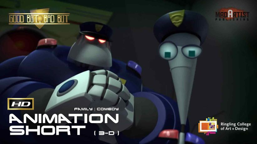 cgi 3d animated short film good bot bad bot funny animation by